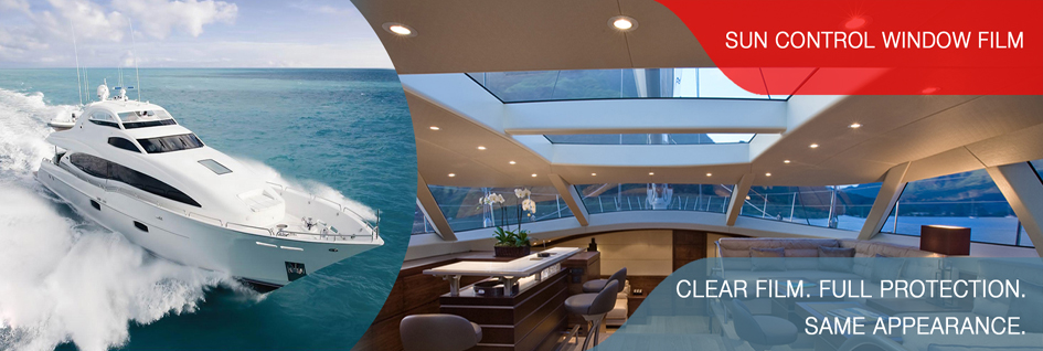 Sun Control Window Film for Marine